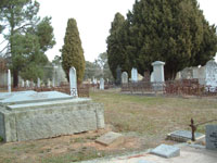 Old graves, Mansfield Cemetery